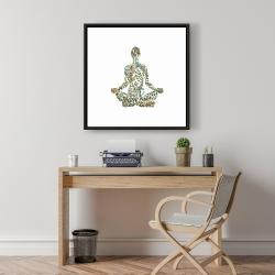 Framed 24 x 24 - Zen attitude
