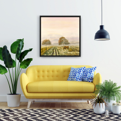 Framed 24 x 24 - Sweet morning in the countryside