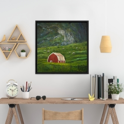 Framed 24 x 24 - Life in the countryside