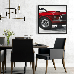Framed 24 x 24 - Classic red car