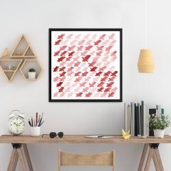 Framed 24 x 24 - X red pattern