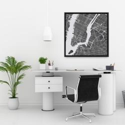 Framed 24 x 24 - New-york city plan