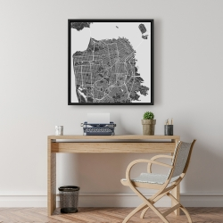 Framed 24 x 24 - San francisco city plan