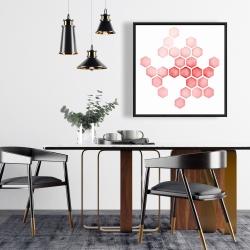 Framed 24 x 24 - Alveoli red