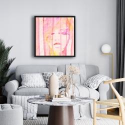 Framed 24 x 24 - Abstract portrait feminine