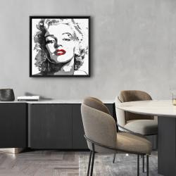 Framed 24 x 24 - Marilyn monroe