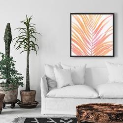 Framed 24 x 24 - Glam palm leaf