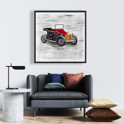 Framed 24 x 24 - Vintage car with sunroof