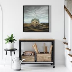 Framed 24 x 24 - Boat