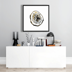 Framed 24 x 24 - Golden geode