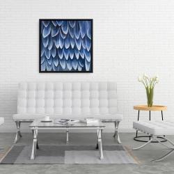 Framed 24 x 24 - Plumage blue