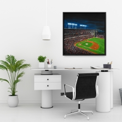 Framed 24 x 24 - Baseball game