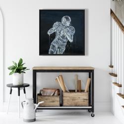 Framed 24 x 24 - Football player