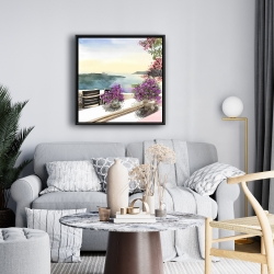 Framed 24 x 24 - Mediterranean sea view