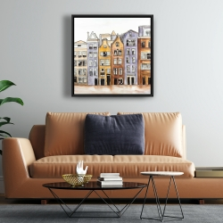 Framed 24 x 24 - Amsterdam houses hotel