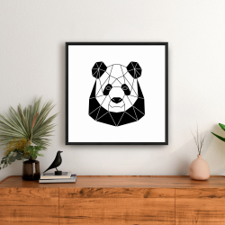Framed 24 x 24 - Geometric panda