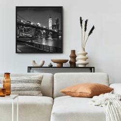 Framed 24 x 24 - City under the night