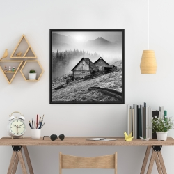 Framed 24 x 24 - Mountain carpathian village