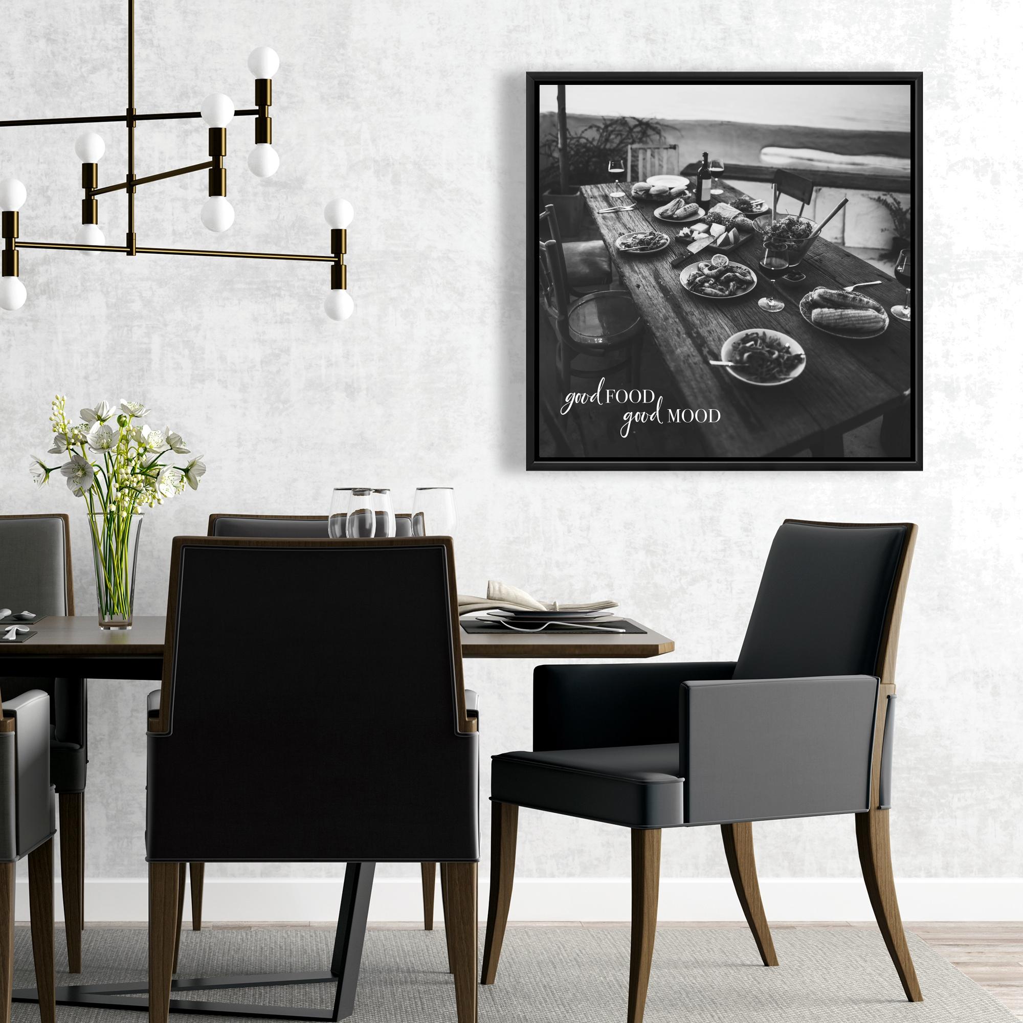Framed 24 x 24 - Good food good mood