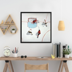 Framed 24 x 24 - Eventful hockey game