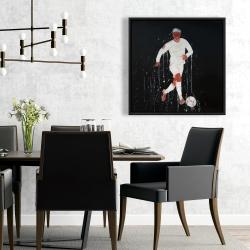 Framed 24 x 24 - Soccer player