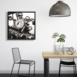 Framed 24 x 24 - Realistic sepia motorcycle