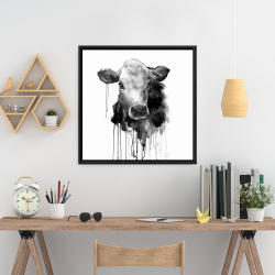 Framed 24 x 24 - Jersey cow