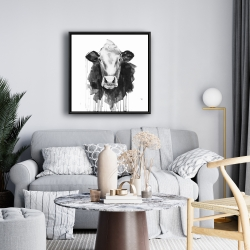 Framed 24 x 24 - Cow