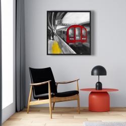 Framed 24 x 24 - Waiting subway