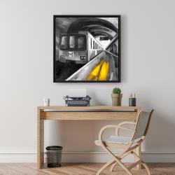 Framed 24 x 24 - Urban life
