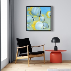 Framed 24 x 24 - Butterfly fishes