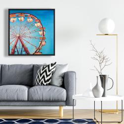 Framed 24 x 24 - Ferris wheel by a beautiful day