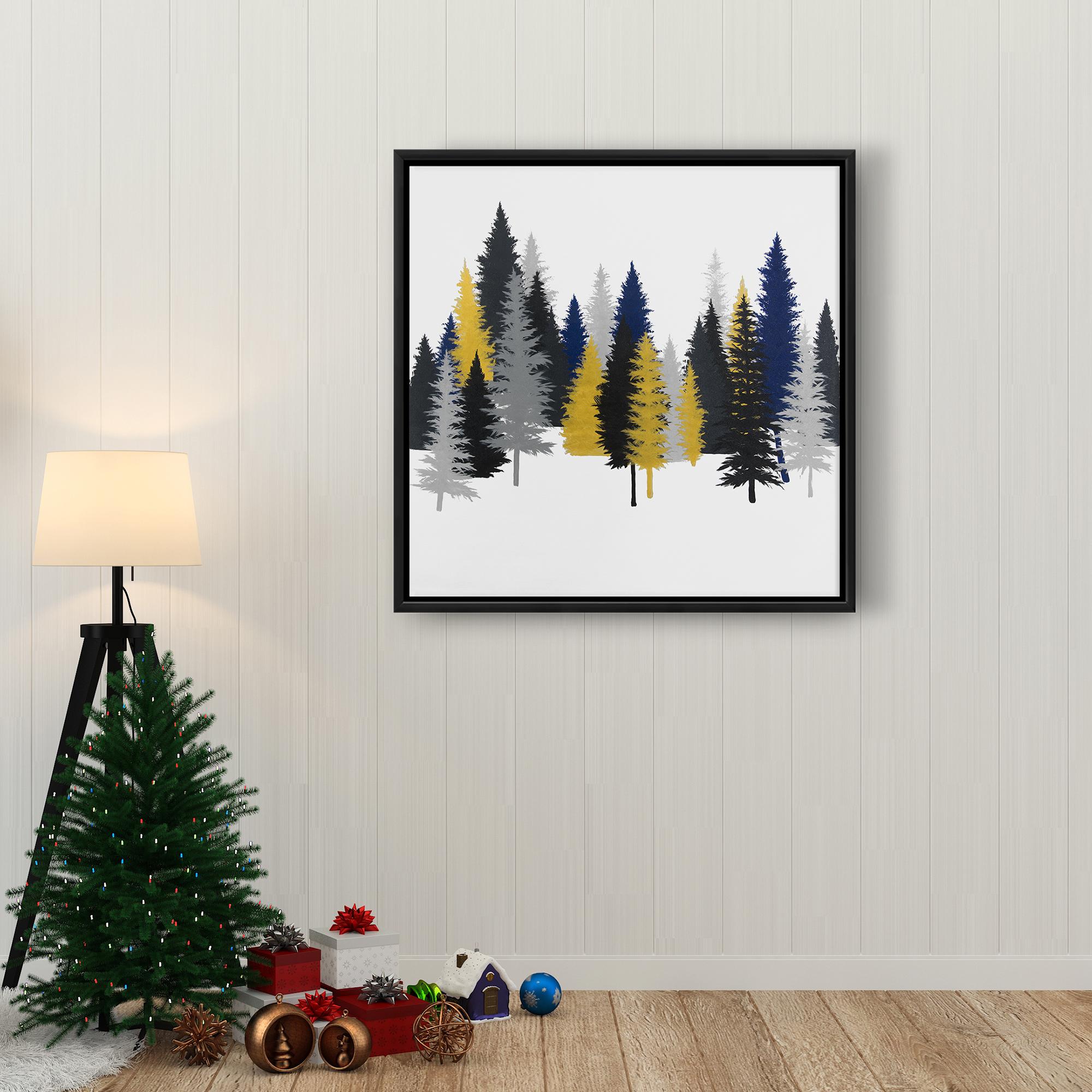 Framed 24 x 24 - Golden fir
