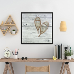 Framed 24 x 24 - Snowshoes