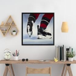 Framed 24 x 24 - Hockey player