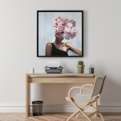Framed 24 x 24 - See life in flowers