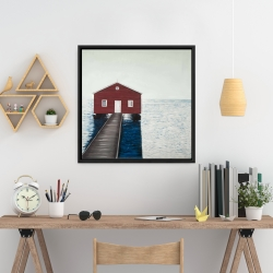 Framed 24 x 24 - Boathouse