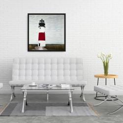 Framed 24 x 24 - Sankaty head lighthouse