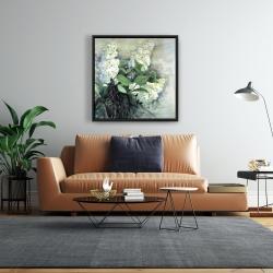 Framed 24 x 24 - White lilacs