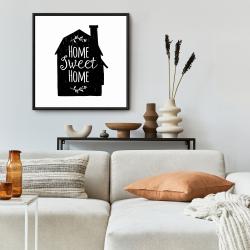 Framed 24 x 24 - Home sweet home