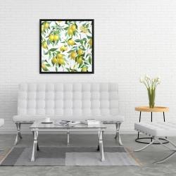 Framed 24 x 24 - Lemon pattern