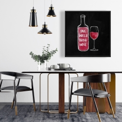 Framed 24 x 24 - Save water drink wine