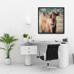 Framed 24 x 24 - Cute jersey cow
