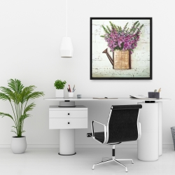Framed 24 x 24 - Purple foxglove flowers