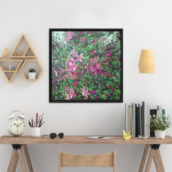 Framed 24 x 24 - Cherry tree blooming