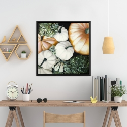 Framed 24 x 24 - Fall pumpkins