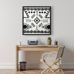 Framed 24 x 24 - Ethnic patterns