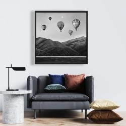 Framed 24 x 24 - Air balloon landscape