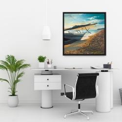 Framed 24 x 24 - Peaceful seaside