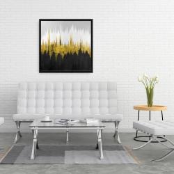 Framed 24 x 24 - Golden zigzag